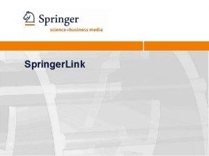 Springer Link 2 Home Page A caixa de