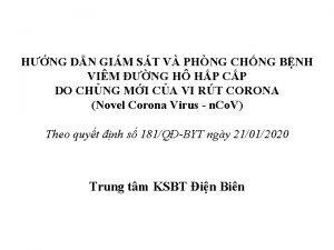 HNG DN GIM ST V PHNG CHNG BNH