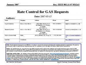 January 2007 doc IEEE 802 11 070312 r