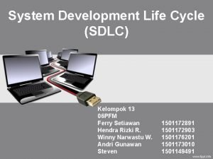 System Development Life Cycle SDLC Kelompok 13 06