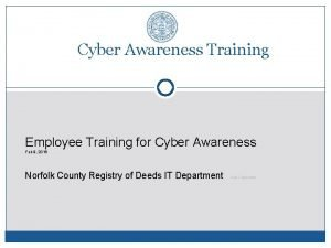 Cyber Awareness Training Employee Training for Cyber Awareness