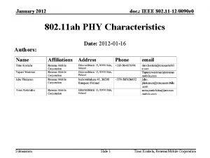 January 2012 doc IEEE 802 11 120090 r