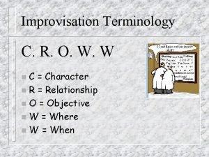 Improvisation Terminology C R O W W C