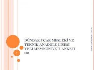 1 2019 VEL MEMNUNYET ANKET DNDAR UAR MESLEK