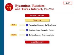 Byzantines Russians and Turks Interact 500 1500 CHAPTER