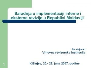 Saradnja u implementaciji interne i eksterne revizije u