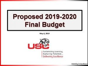 Proposed 2019 2020 Final Budget May 6 2019