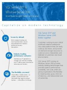 SQL Server 2017 Windows Server 2016 Work more