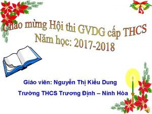 Gio vin Nguyn Th Kiu Dung Trng THCS
