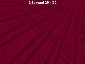 2 Samuel 20 22 2 Samuel 20 1