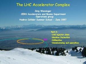 The LHC Accelerator Complex Jrg Wenninger CERN Accelerators