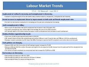 Labour Market Trends STUC SG Biannual June 2013