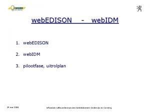web EDISON web IDM 1 web EDISON 2