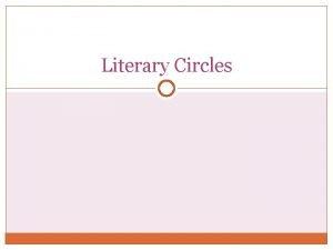 Literary Circles Literary Circle Groups Literary Circle Groups