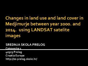 Changes in land use and land cover in