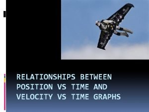 RELATIONSHIPS BETWEEN POSITION VS TIME AND VELOCITY VS