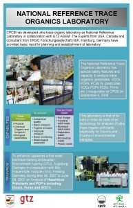 NATIONAL REFERENCE TRACE ORGANICS LABORATORY CPCB has developed