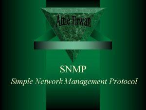 SNMP Simple Network Management Protocol Introduction historique En