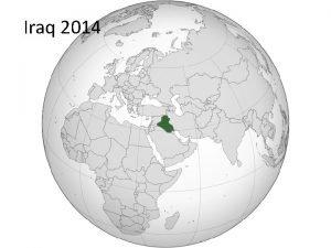 Iraq 2014 Iraq at risk of civil war
