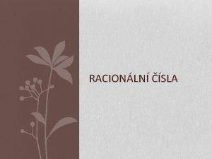 RACIONLN SLA Racionln sla Autor Mgr Ludmila Pechkov