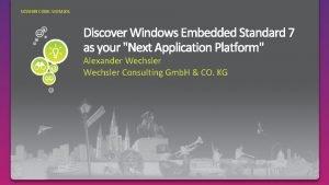 SESSION CODE WEM 201 Alexander Wechsler Consulting Gmb