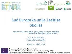Sud Europske unije i zatita okolia Seminar PRAVO