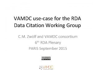 VAMDC usecase for the RDA Data Citation Working
