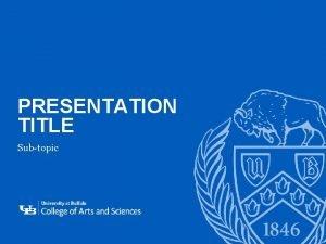 PRESENTATION TITLE Subtopic 1 DIVIDER SLIDE Section title