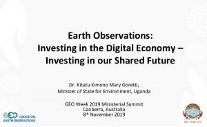 Earth Observations Investing in the Digital Economy Investing