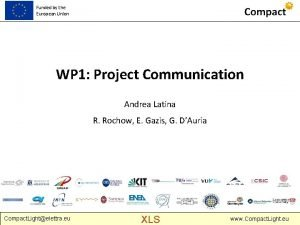 Funded by the European Union WP 1 Project