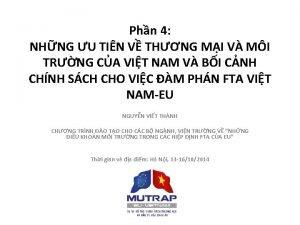 Phn 4 NHNG U TIN V THNG MI