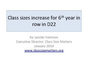 Class sizes increase for 6 th year in