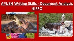 APUSH Writing Skills Document Analysis HIPPO H I