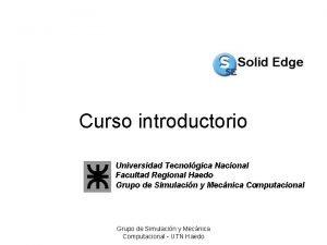 Curso introductorio Universidad Tecnolgica Nacional Facultad Regional Haedo