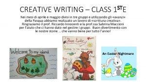 ST CREATIVE WRITING CLASS 1 E Nei mesi