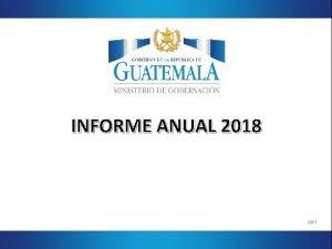 INFORME ANUAL 2018 pprl INFORME ANUAL SE CONFORMA