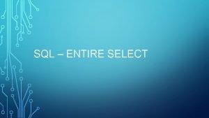 SQL ENTIRE SELECT MIN MAX SELECT min returns