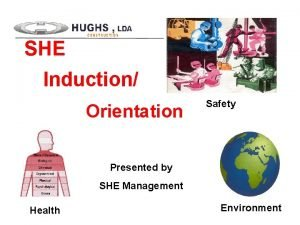 SHE Induction Orientation Safety Presented by SHE Management