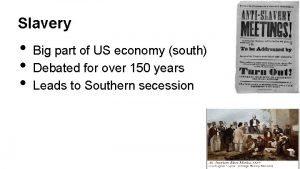 Slavery Big part of US economy south Debated