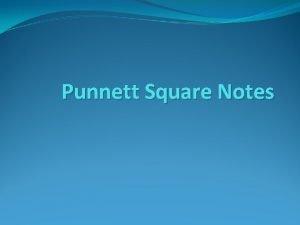 Punnett Square Notes Gregor Mendel Father of Genetics