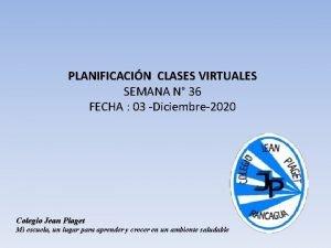 PLANIFICACIN CLASES VIRTUALES SEMANA N 36 FECHA 03