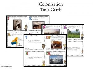 Colonization Task Cards Social Studies Success Colonization Task