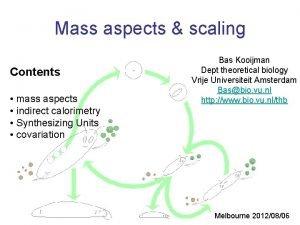 Mass aspects scaling Contents mass aspects indirect calorimetry
