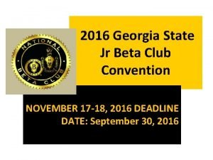 2016 Georgia State Jr Beta Club Convention NOVEMBER