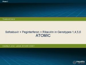 Phase 2 Treatment Nave Sofosbuvir Peginterferon Ribavirin in