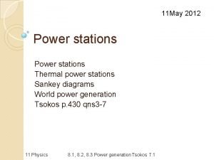 11 May 2012 Power stations Thermal power stations