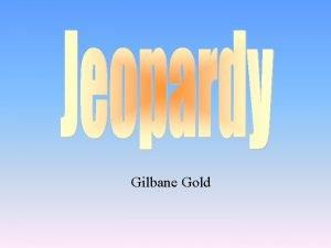 Gilbane Gold Character Sketches Alternative Endings Corporate Social