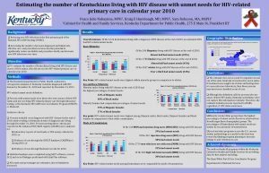 Estimating the number of Kentuckians living with HIV