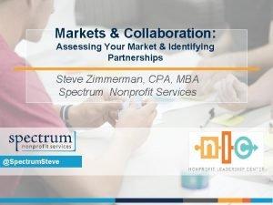 Markets Collaboration Assessing Your Market Identifying Partnerships Steve