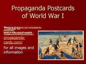 Propaganda Postcards of World War I Thanks to